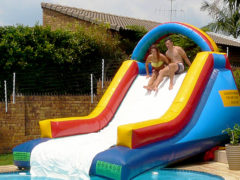 16. Mini Gladiator Pool Slide