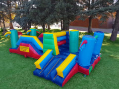 Apart from Jumping Castles, Gladiator Inflatables include wet and dry surface options such as Water Slides and Foam Ponds, the Gladiator Rocket, Adventure Island and Zorb Balls. This image was edited by Gladiator Inflatables of Discovery based in Roodepoort, Gauteng, South Africa