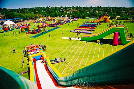 When it comes to water slides for sale, look no further than Gladiator Inflatables, a manufacturer of all things inflatable with an enviable track record for customer service. Gladiator is also well-known for its wide range of jumping castles for sale not only in the Johannesburg area but also nationwide and Africa.