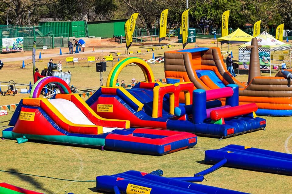 Gladiator inflatables fun day fairlands - Hire a Jumping Castle or Water Slide this Holiday Season