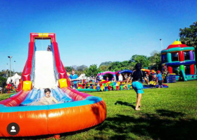 Sliding into the weekend gladiator inflatables