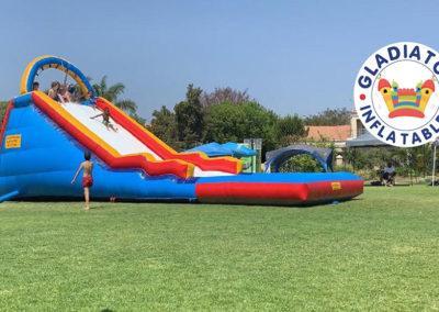 Supa slide with pong Gladiator inflatables