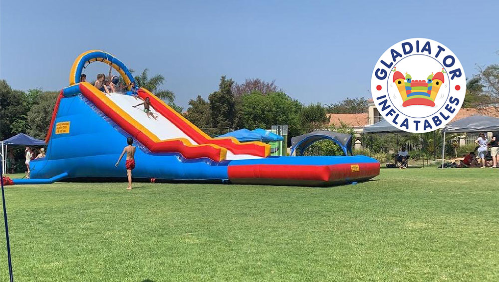Supa slide with pong Gladiator inflatables